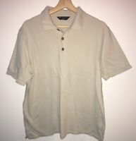 Men's Short Sleeve Stone Polo Top Size M M&S <NH8061T