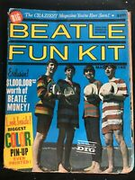 BEATLES FUN KIT Magazine - 1964 - Vintage Fanzine with COA