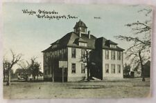Early 1900s Postcard High School Bridgeport Texas Wise County Old Color PC