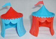 TIMPO Knight's médiéval tentes x 2. joutes tente. échelle 1/32. Rouge & Bleu