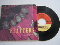 EP 4 TITRES VINYLE 45 T , THE PLATTERS , YOU MADE ME  . VG - / VG+ PRESIDENT 51