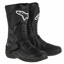 Alpinestars Pikes Drystar Leather Motorcycle Motorbike Touring Boots - Black