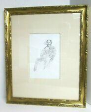 "JAMES ABBOTT McNEILL WHISTLER Original Lithograph ""The Doctor"" 1895 Framed COA"