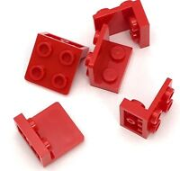 Lego 5 New Red Brackets 1 x 2 - 2 x 2 Inverted Pieces