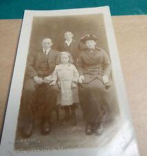 Real photo Edwardian Family Group by W Boxhall 33 Gelli Deg St Maesycwmmer Ao1