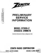 Zenith Radio Transoceanic shortwave service information RA-111 Royal R7000-2