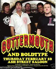GUTTERMOUTH 2011 PORTLAND CONCERT TOUR POSTER -PUNK