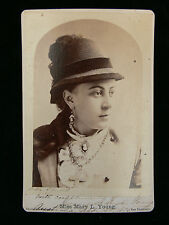 Mary Loduski Young - American Actress - 1876 Signed Cabinet Photograph