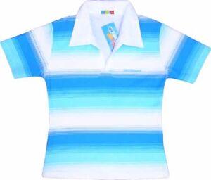 Sexy Ladies Womens Polo Tokyo Style Manba Blue White Stripe T-Shirt 10-12 Medium