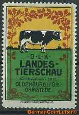 Reklamemarken - OLDENBURG i.Gr., Landestierschau 1911in Ohmstede (#25771)