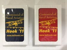 New Centennial of Naval Aviation Hook '11 Playing Cards Sealed