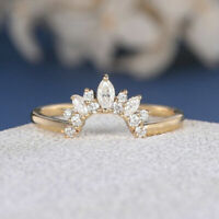 3Ct Marquise Cut Diamond Engagement Anniversary Band Ring 14k Yellow Gold Over
