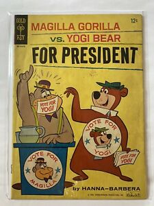 Magilla Gorilla vs Yogi Bear for President 3 Gold Key Comic 1964 VG +  4.5 - 5.0