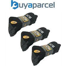 X3 Jcb 4 Paquet De Site Travail Botte Chaussettes Renforcée Talon Bout Noir Gris