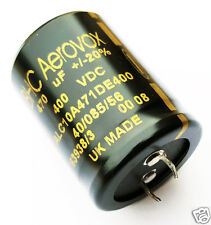470uF 400V Radial Electrolytic Capacitors Snap In BHC Aerovox (1 Pc)