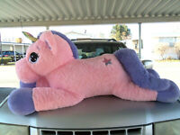 "Giant Jumbo plush stuffed Pink Unicorn Horse 52"""