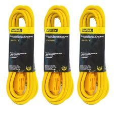 (3pc) 13.1ft/4m Extension Cord Cable 16 Gauge AWG Heavy Duty New Indoor Outdoor