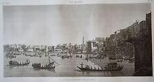 LE KAIRE. Vue de la place EZBEKYEH ; côté de l'Ouest...   DESCRIPTION EGYPTE