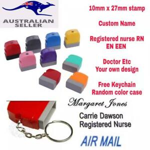 Custom Name signature Flash Stamp self inking Registered Nurse RN EN EEN Doctor