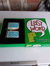Last Word Game, Hardly used.