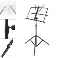 Music Stand Alloy Tripod Holder Lightweight Adjustable Foldable with Carry Case