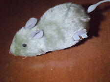 "6"" Gray Furry Fake Rat Mouse Wind Up Cat Pet Toy Halloween Prank Prop Scares"