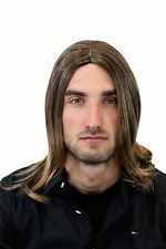 Mens Wig for Men or Unisex High Quality Synthetic Straight Long Indie Musician