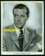 RAY MILLAND VINTAGE 8X10 PHOTO 1942 PORTRAIT PRINTER'S PROOF EXHIBIT ARCADE CARD