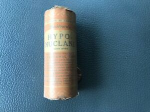 Early Antique Medicine Tablet container. NOS Hypo-Nuclane.  Blackburn's.