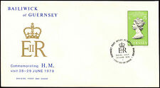 Guernsey 1978 Royal Visit FDC First Day Cover #C32295