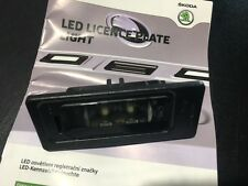 SKODA YETI SUPERB RAPID LAMPE LICHT KENNZEICHEN LED ORIGINAL 000052110