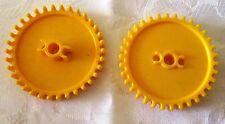 K 'NEX crown gear Medium Yellow-knex-Diamètre 55 mm avec 34 dents - 2 pièces