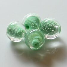 """25pcs 12mm Round """"Glow-in-the-Dark"""" Glass Beads - Opaque Pale Green"""