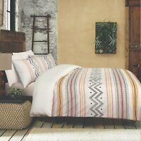 King Size Bed Doona Duvet Quilt Cover Set Cotton With Pillowcases Multicolored