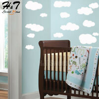White Clouds Vinyl Wall Sticker Decal Removable Art Nursery Kids Baby Room Decor
