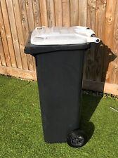 Wheelie BINS 140 litre L black White dustbin waste bin recycling plastic glass