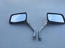 BRAND NEW CHROME E-MARKED RECTANGULAR Mirrors FOR HONDA CA 125 REBEL 95-99 10MM