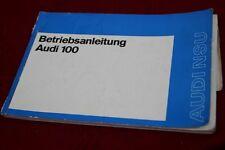 AUDI 100  11/1971  Betriebsanleitung Bordbuch Bedienungsanleitung