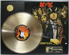 AC/DC GOLD LP LTD EDITION REPRODUCTION SIGNATURE RECORD DISPLAY