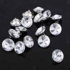50pcs Crystal Rhinestone Buttons for Sewing Craft Upholstery Crafts 20mm