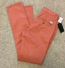 BNWT QUIKSILVER STRAIGHT TAPERED MUTED SALMON SURF TROUSERS 28 REG 32 L COST£80