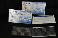 2001 United States Mint Philadelphia Uncirculated Coin Set