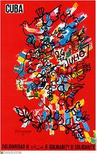 Political cuban POSTER.Rene Portocarrero Art.Cuba 14.Revolution History art