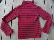 Pull / sous-pull col roulé rayé rose fuchsia et violet Taille 7/8 ans OCCASION
