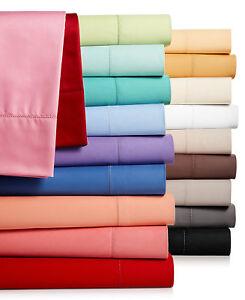 Charter Club 3-Piece TWIN Sheet Sheet Set Damask Solid 550 TC Cotton Red T94508