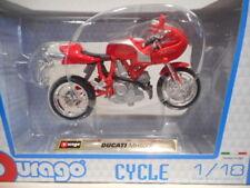 Véhicules miniatures multicolore pour Ducati 1:18