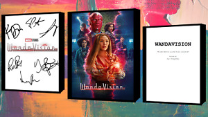 WandaVision Script/Screenplay With Movie Poster And Autographs Signed Print