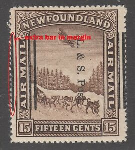 Newfoundland # 211ii Shifted Overprint variety Mint Never Hinged Very Fine