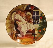 Old Vintage 1997 Avon Christmas Plate w 22K Gold Trim Heavenly Dreams