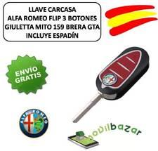 LLAVE FUNDA CARCASA ALFA ROMEO GIULETTA MITO BRERA 159 GTA FLIP 3 BOTONES